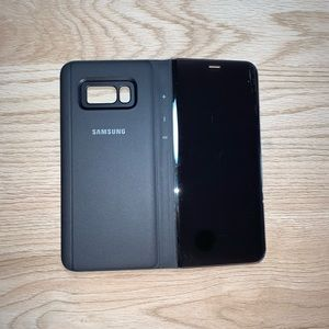 S8 PLUS clear view standing cover